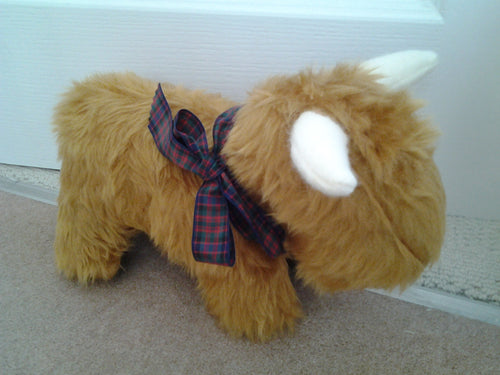Handmade Highland Cow Doorstop