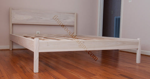 Queen Cottage Platform Bed unfinished Poplar wood