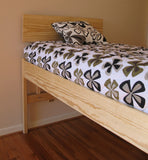 Twin elevated bed with Kajaani Headboard