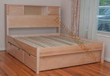 Custom bookcase Bed and storage drawers