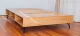 Hair Pine Leg  Platform Storage Bed with English Oak Stain