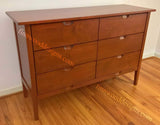 custom dresser made from maple wood with warm cherry stain.