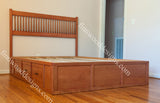Custom Captain bed with Kemi headboard made from oak wood.