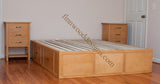 Custom Captain bed made from Maple wood with English Oak stain.