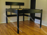 Tall loft bed -elevated platform bed with headboard
