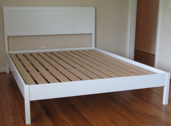 Lahti Platform Bed  painted white.