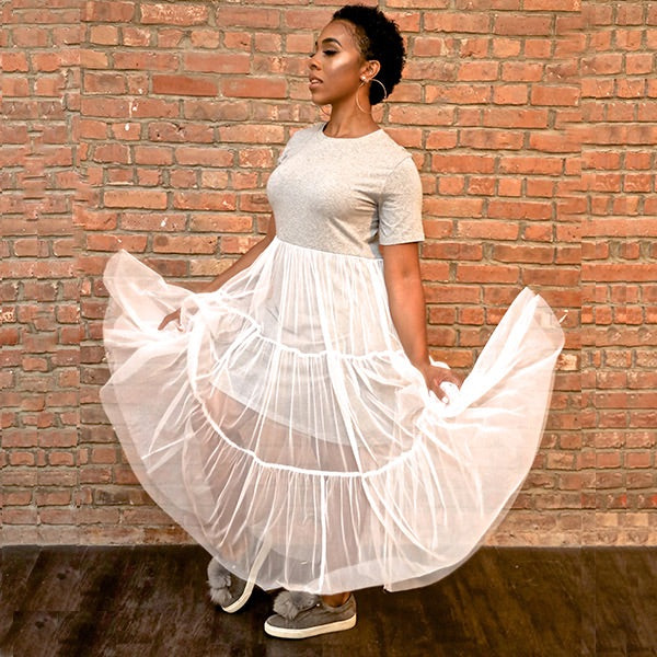 Twirl N Tulle T-Shirt Dress