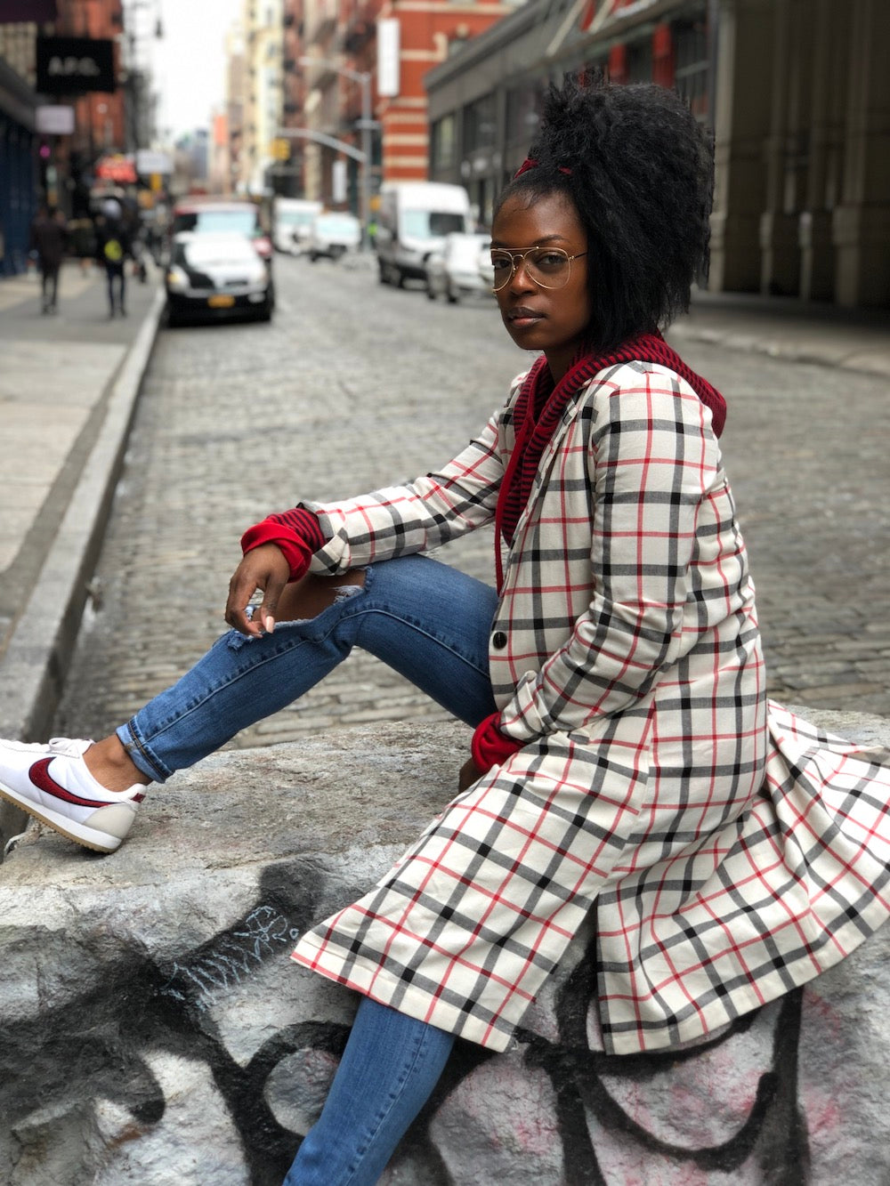 Picnic Plaid Trench
