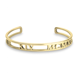Cut Out Roman Numeral Bangle