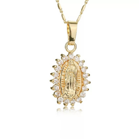 Tiny Virgin Mary Pendant
