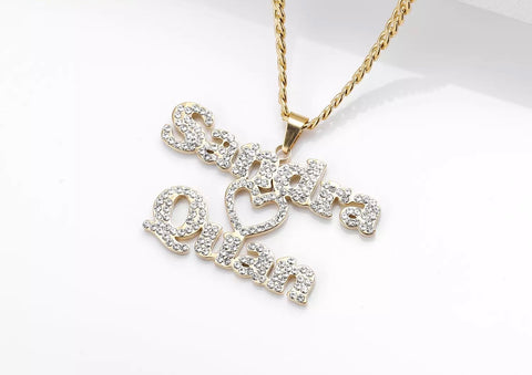 Duo Diamond Heart Pendant