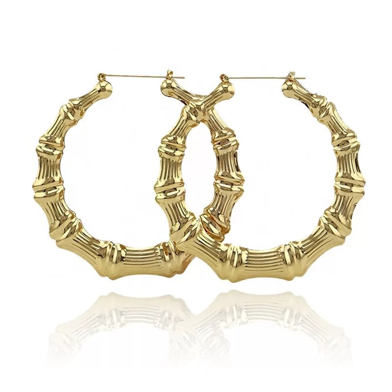 Jane Bamboo Hoops Earrings