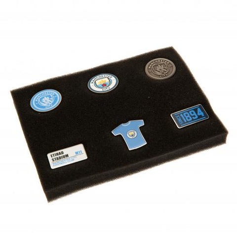 Manchester City F.C. 6 Piece Badge Set