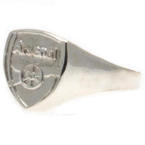 Arsenal F.C. Silver Plated Crest Ring Small