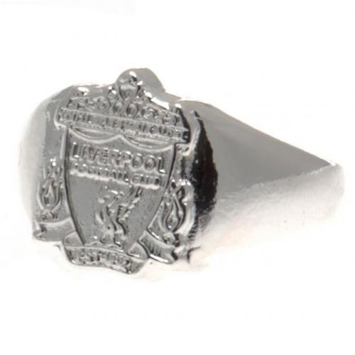 Liverpool F.C. Silver Plated Crest Ring Medium