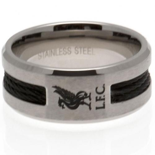 Liverpool F.C. Black Inlay Ring Small