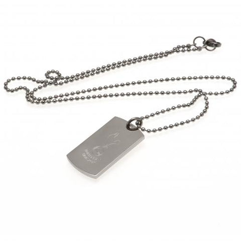 Tottenham Hotspur F.C. Engraved Dog Tag & Chain