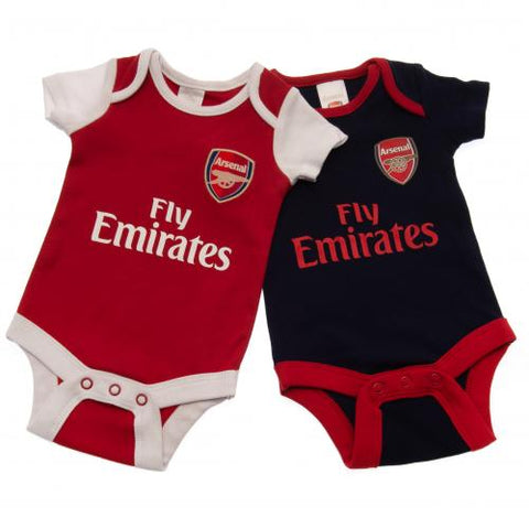 Arsenal F.C. 2 Pack Bodysuit 3/6 Months