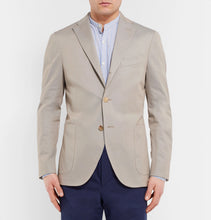 Stone Stretch-Cotton Twill Blazer
