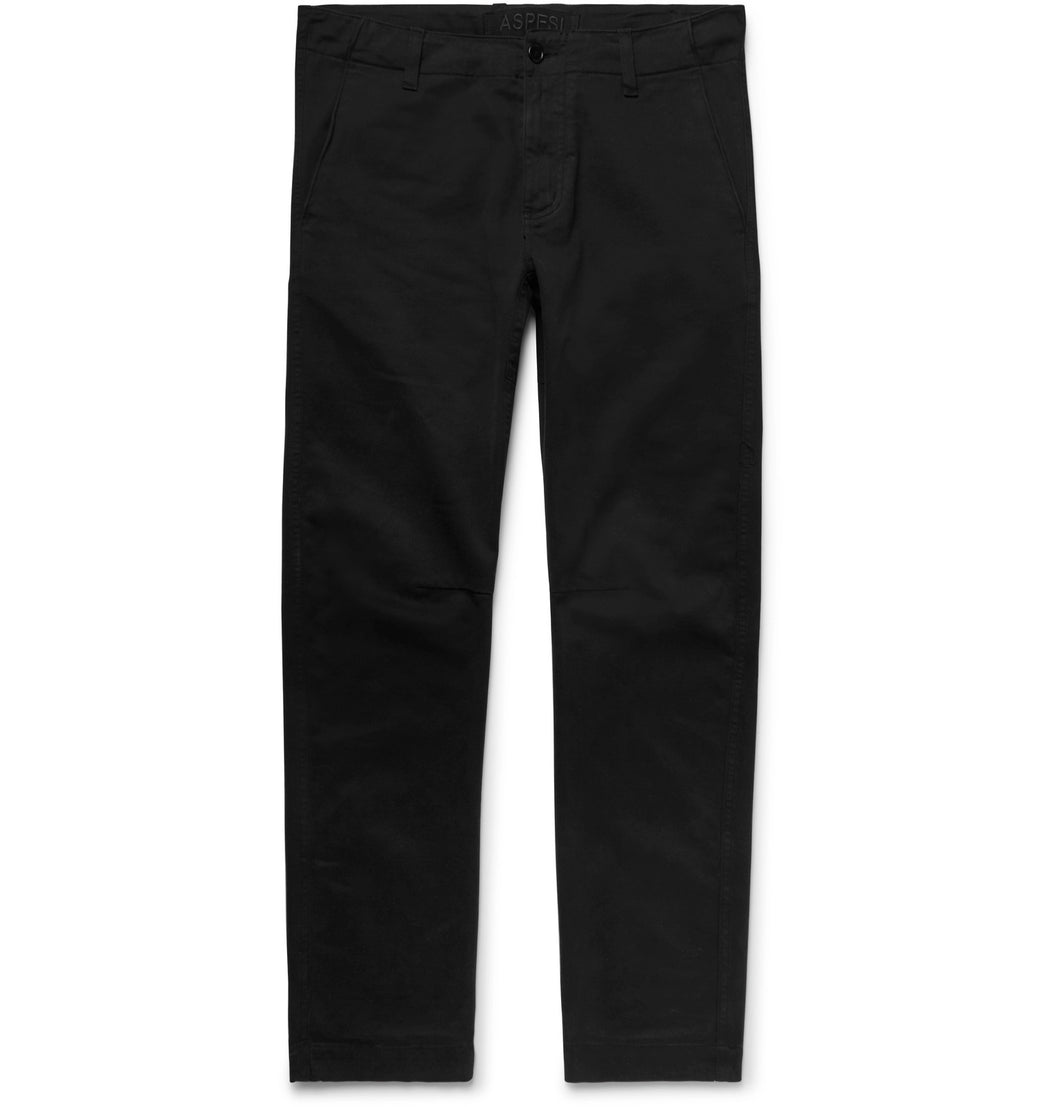 Garment-Dyed Stretch-Cotton Twill Trousers