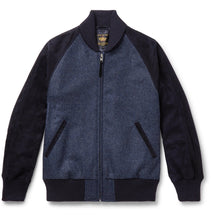 The Griffith Wool-Tweed and Suede Bomber Jacket