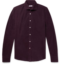 Slim-Fit Garment-Dyed Cotton-Corduroy Shirt