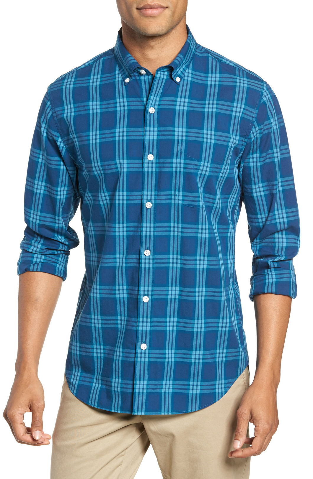 Summerweight Slim Fit Check Sport Shirt