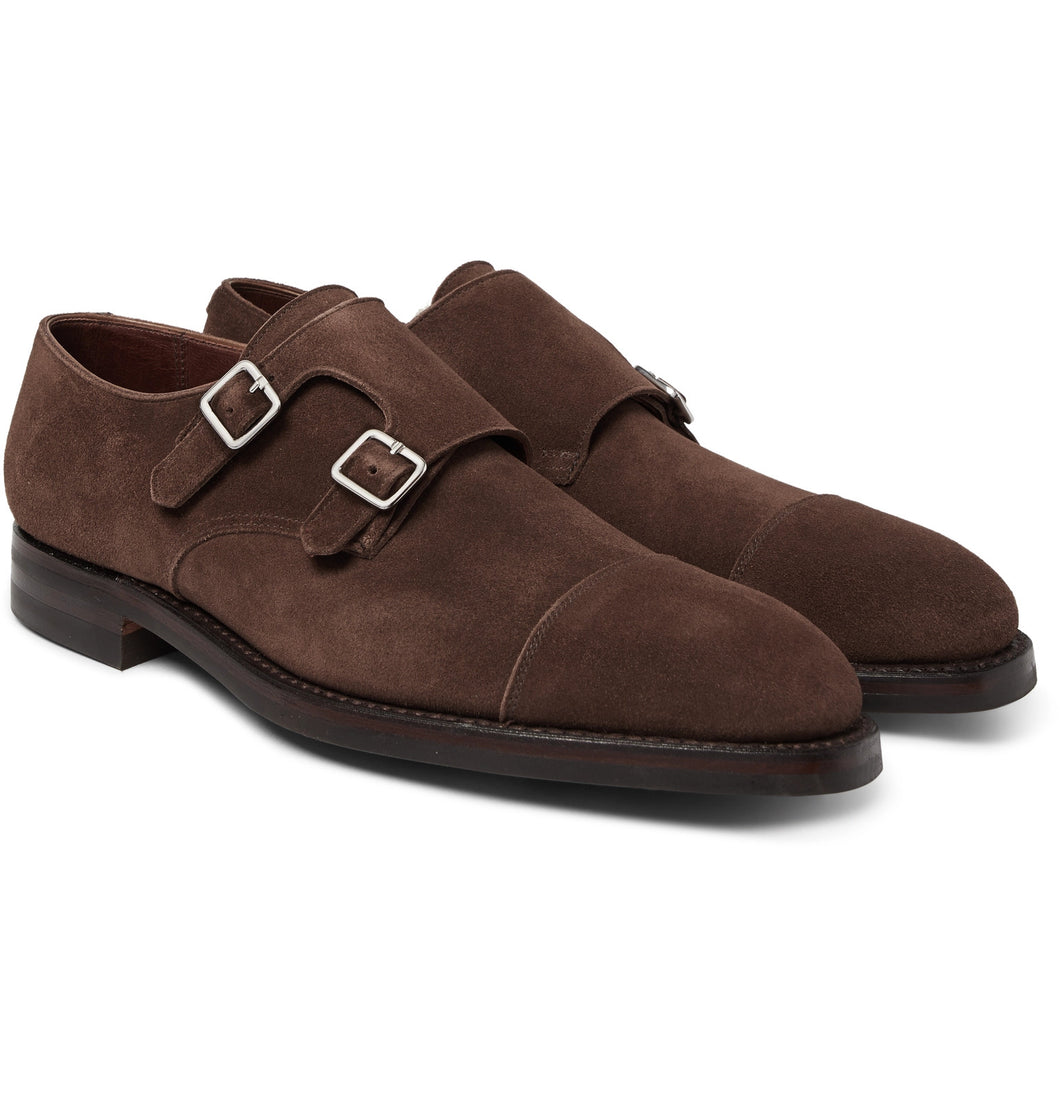 Thomas Suede Monk-Strap Shoes