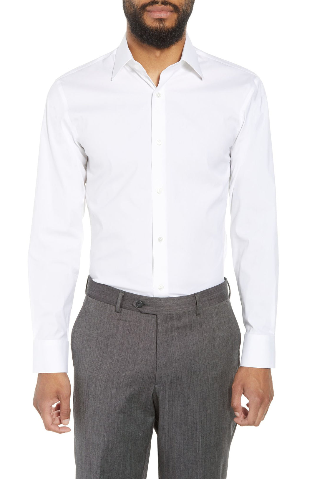 Jetsetter Slim Fit Stretch Solid Dress Shirt