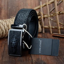 Patterned Leather Belt
