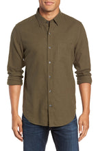 Slim Fit Brushed Twill Sport Shirt