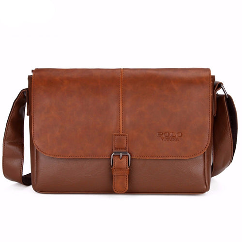 Messenger Bag in Brown/Black