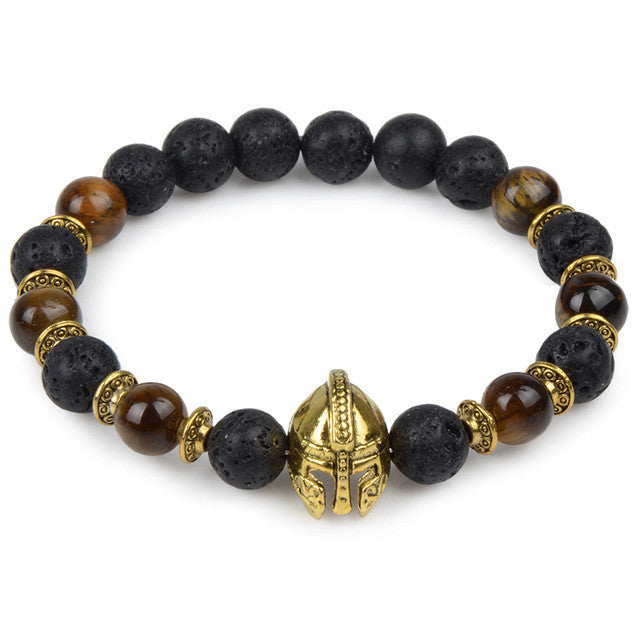 Bead Bracelet with Gladiator Charm