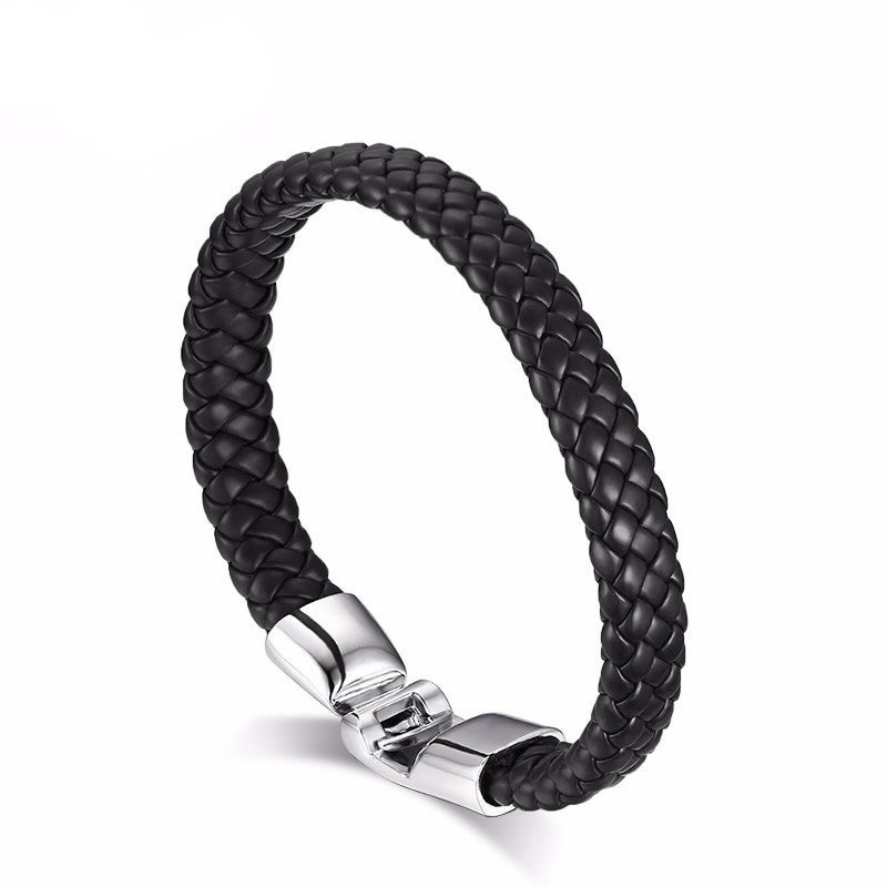 Rope Bracelet with Stainless Steel Clasp