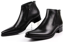 Formal Black Leather Boots