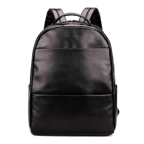 PU Leather Backpack in Black
