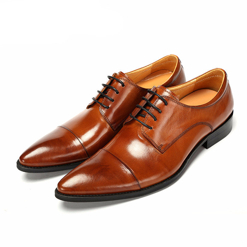Light Brown Cap-Toe Shoes