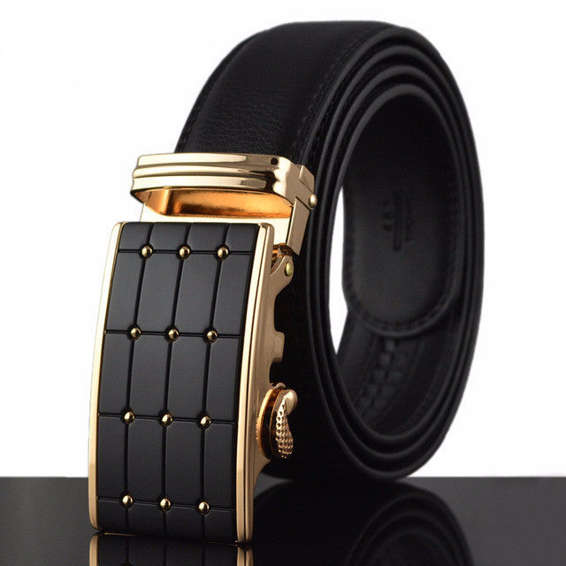 Auto Buckle Leather Belt
