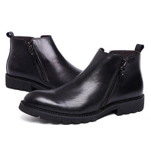 Classic Black Leather Ankle Boots