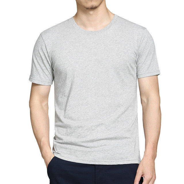 Grey Crewneck T-Shirt