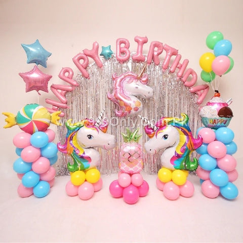 PINK UNICORN BIRTHDAY PACKAGE