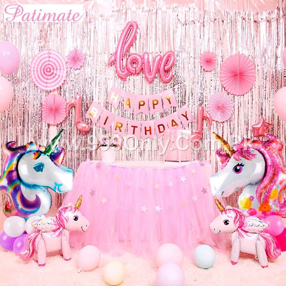 UNICORN BIRTHDAY 65 PC PACKAGE