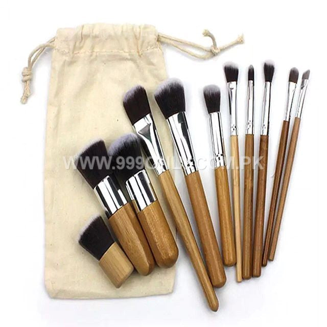 11 Pc bamboo brush set