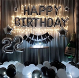 Black Silver Birthday Package