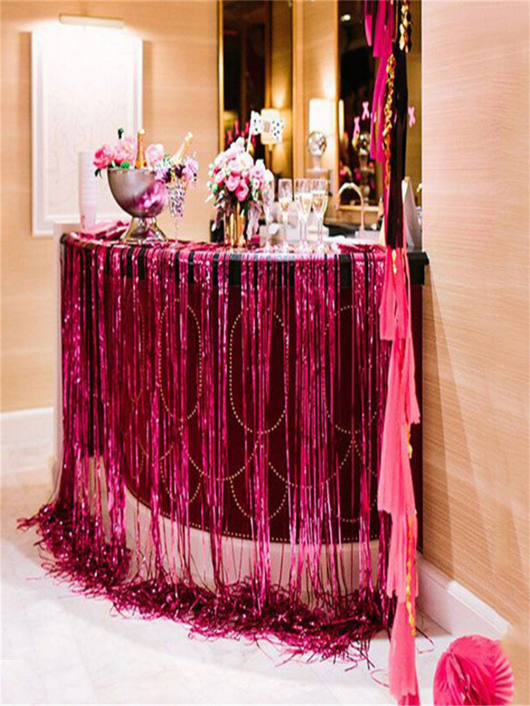 Party Holiday Door Curtain Solid Color Tassel Decoration Creative Decoration