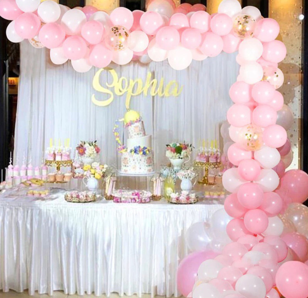 113pcs Baby Shower Balloon Party Balloons Garland Arch Birthday Party Background Balloons Strip Chain for Wedding Decorations