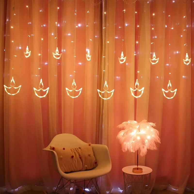 4m LED String Lights Curtain Lights Wishing Boat Garland Fairy String Light