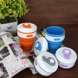 The Silicone Folding Coffee Cups Food Grade BPA FREE For Outdoors Portable Collapsible Water Cup