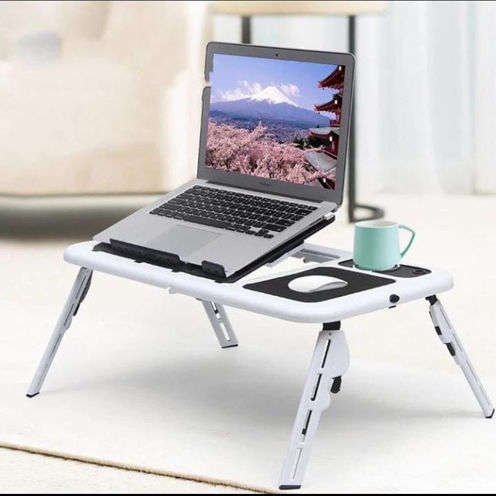 High-quality foldable multifunctional notebook computer stand with USB radiator desktop height adjustable small computer desk
