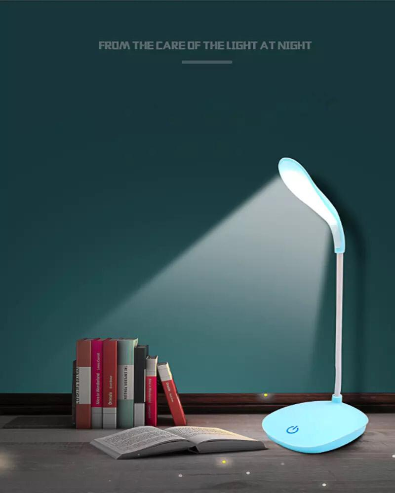 Portable LED Desk Lamp Eye Learning USB Charging Mini Bedroom Bedside College Desk Dormitory Chargeable Table Lamp Touch